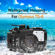 Seafrogs 60m/195ft Underwater Camera Housing Diving Case for Olympus TG-6 TG6