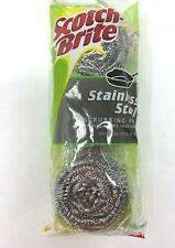 Scotch-Brite Stainless Steel Scrubbers Cleaning Scouring Dishes 4 Packs