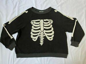 Wildfox Fleecy Lined Skeleton Sweatshirt