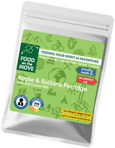 Lightweight Dehydrated Pouched Breakfast - Apple & Sultana Porridge - 100g