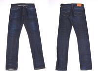 Levi's Levi Strauss Slim Dunkelblau Slevage Selvedge Denim Herren Jeans W34 L34