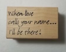 When Love Calls Your Name Magenta Rubber Stamps 07.3261.I