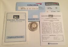 CONCORDE 2006 GIBRALTAR SILVER PROOF £5 CROWN first around the world flight COA+