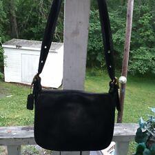 COACH Vintage Black Leather Patricia Legacy Flap Shoulder Crossbody #9951
