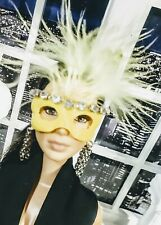 OOAK Barbie Doll size 1/6 scale Yellow Masquerade Ball festival mask ! NEW !
