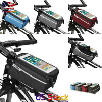 Bicycle Bag Accessories Touch Screen MTB Frame Front Tube Storage Mountain Road