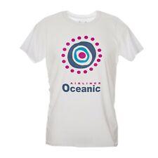 CUC T Shirt uomo oceanic airlines lost thriller serie tv anni golden globe