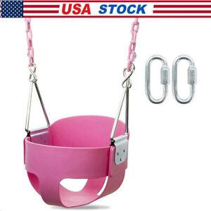 Heavy-Duty High Back Full Bucket Toddler Swing Seat w/Chain Fully Assembled
