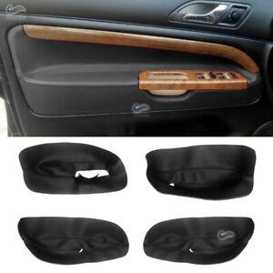 RHD Inner Door Armrest Panels Leather Cover Replacement for Skoda Superb 02-06