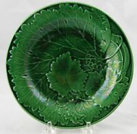 """Antique English Green Majolica Faience Leaf Plate 7-3/8"""" Multiple Available"""