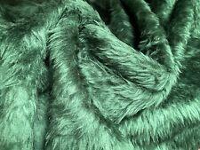 Faux Fur Fabric Long Pile - Green
