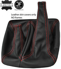 RED STITCH TOP GRAIN LEATHER MANUAL 4X4 GEAR BOOT FITS TOYOTA HILUX 2012-2016