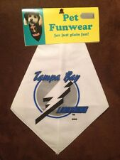 -New- Tampa Bay Lightning Official NHL Dog / Pet Bandanna Funwear