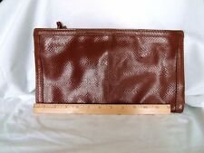 Vintage Bueno Brown Clutch Bag~Snake Skin Pattern~Great Size!  Great Look! EUC!