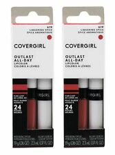 2 X COVERGIRL Pk2 Outlast All-day Lipcolor 619 Lingering Spice