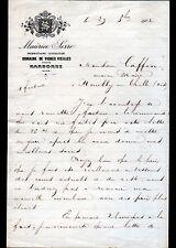 """DOMAINE de VIGNES VIEILLES prés de NARBONNE (11) VINS """"Maurice SERRE"""" en 1902"""