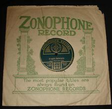 """ZONOPHONE 466 - 10"""" 78 rpm  - ENGLISH TRIO –  BRAGA'S SERENADE  - 1910s"""