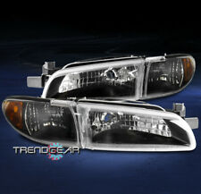FOR 1997-2003 PONTIAC GRAND PRIX HEADLIGHTS HEADLAMPS W/CORNER SIGNAL LAMP BLACK