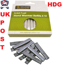 REFILLS SOLID HAND WARMER FUEL STICKS RODS X 12 SURVIVAL SKI CAMP HIKE ARMY GOLF