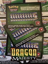 30x Dragon Majesty Pokemon TCG Online Codes