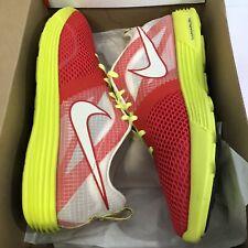 outlet store f60a1 e3d5d Mens Nike LunarMTRL+ Running Shoe 522345 607 Red White Volt Size sz 10.5  Trainer