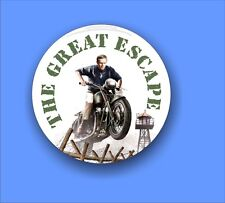 The Great Escape, Steve McQueen  - traditional Button Badge - 58mm diameter