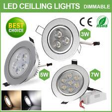 3W 5W 7W LED Spot Einbauleuchte Einbau Strahler Set Decken Leuchte Lampe Neu