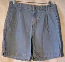 """Bill Blass womens light blue jeans shorts, size 12, 100% cotton, waist=35"""""""