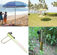 Iron Sun Beach Patio Umbrella Holder Parasol Ground Anchor Spike Fishing Stand