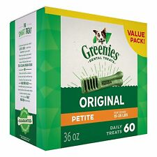 GREENIES® Dental Dog Treat size Petite for dogs 15-25 lbs (60 Counts)(36 oz)