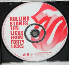 "THE ROLLING STONES ""Ten Licks From Forty Licks"" PROMO ONLY CD / US  ©2002"
