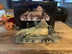 Star Wars Jabba the Hutt Gentle Giant Statue With Jawa And Oola