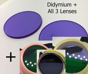 didymium glass 50mm round ace Glass Blowing Lampworking Safety Lenses Mix Match