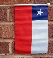 """CHILE HAND WAVING FLAG medium 9"""" X 6"""" wooden pole flags CHILEAN SANTIAGO"""