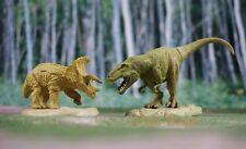 Bandai Dinosaurs Figure Triceratops Tyrannosaurus T-rex Cake Topper K1047 a B