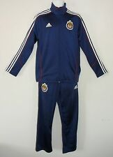 nwt~Adidas CHIVAS USA Soccer Football Track jersey suit Top Jacket-Pant sweat~XL