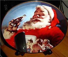 Stocking Up For Santa Coca-Cola Santa Claus Plate