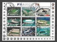 Football St Thomas et prince (24) série complète 9 timbres oblitérés