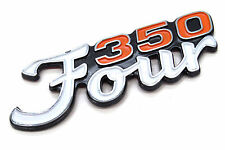 New Reproduction Side Cover Emblem Honda CB350 F 350 Four Badge (See Notes)#A56