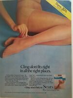 1981 Sears Cling alon women's pantyhose Hosiery stockings legs vintage ad