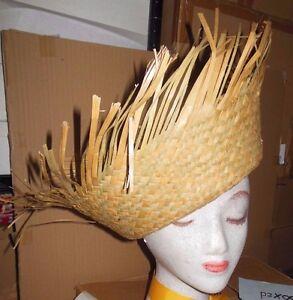 LOT of 12 Child size Beachcomber Birdnest Natural Straw Hat Calypso 1 dozen
