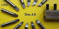 1 SET VHM Radius-Drehmeißel Ø 4 + Halter Drehstahl CNC Drehbank lathe cutting H0
