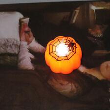 Halloween Spider Pumpkin Pattern LED Light Lamp Party Decor Sweet Holder Supply