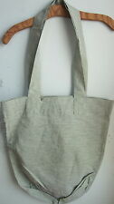 FLAX LINEN BAG - Flax Linen LARGE TOTE Bag  NWT  GREEN BLACK