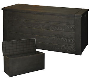 300 Litre Outdoor Storage Box Garden Patio Plastic Chest Lid Container Multibox
