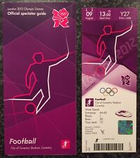 LONDON 2012 TICKET FOOTBALL COVENTRY 9 AUG PLUS SPECTATOR GUIDE *MINT*