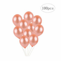 100pcs Rose Gold Latex Helium Ballons Pearl Ballons Wedding Party Decor 12 Inch