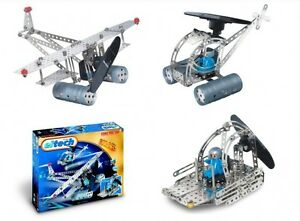 Solar Powered Construction Set Eitech C74 Metal Building Toy aircraft/helicopter