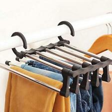 Wardrobe Clothes Hanger Closet Storage Rack Cabinet Organizer Hanging Trousers