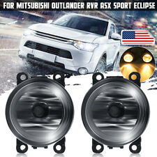 Clear Fog Lamps pair w// Wiring Kit Fits Mitsubishi 06-12 Eclipse 07-12 Outlander